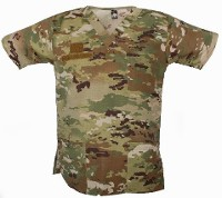 Multicam Scrub Top