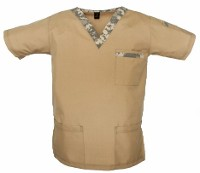 Khaki & Army Digital Scrub Top