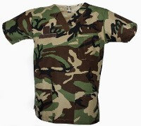 Woodland Camo Scrub Top